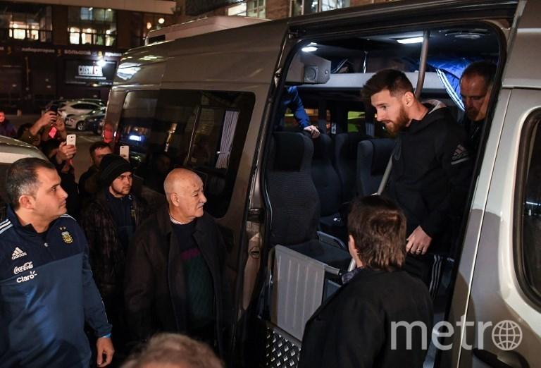 Лионель Месси с Москве. Фото AFP