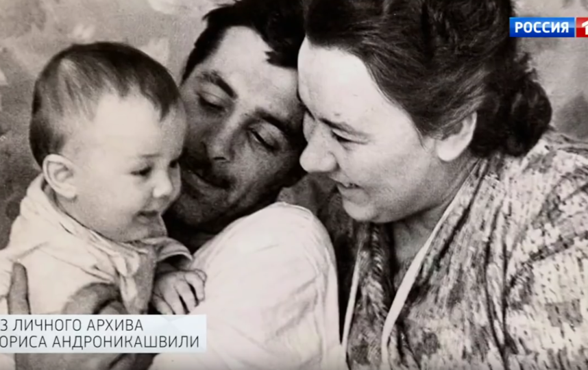 Борис Андроникашвили с маленькой Марией. Фото Скриншот Youtube