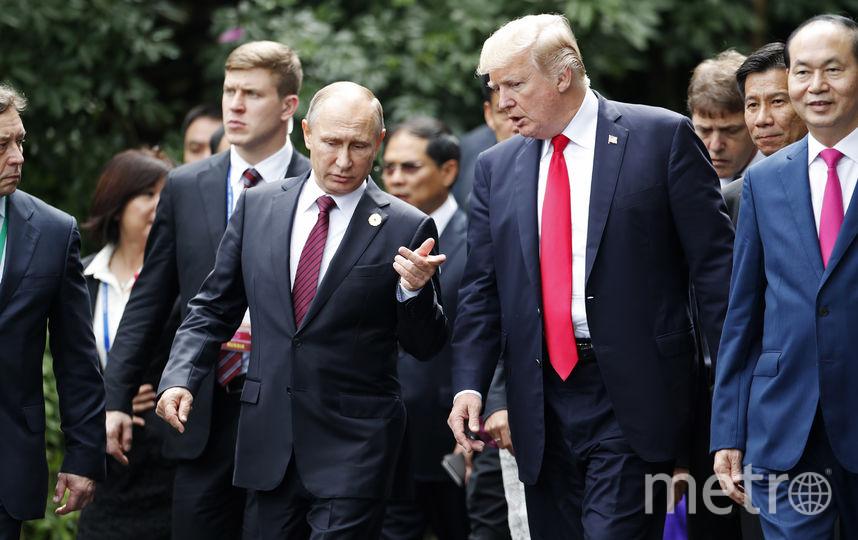 Путин и Трамп пообщались на саммите АТЭС во Вьетнаме. Фото AFP