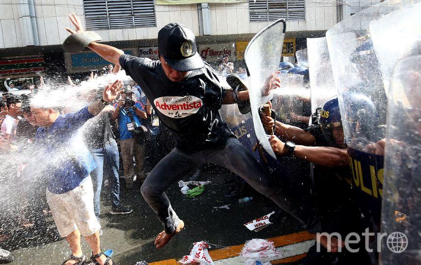 Протесты на Филиппинах. Фото AFP