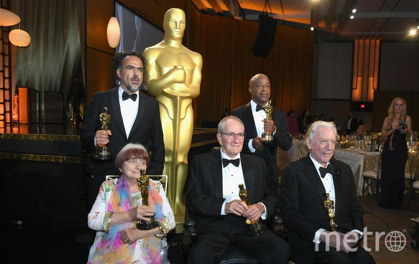 Премию получили режиссер из Мексики Алехандро Гонсалес Иньярриту, американский кинооператор Оуэн Ройзман, режиссер Чарльз Бёрнетт, канадский актер Дональд Сазерленд. Фото Getty