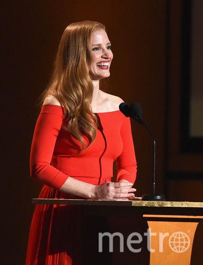 Governors Awards в Голливуде. Джессика Честейн. Фото Getty