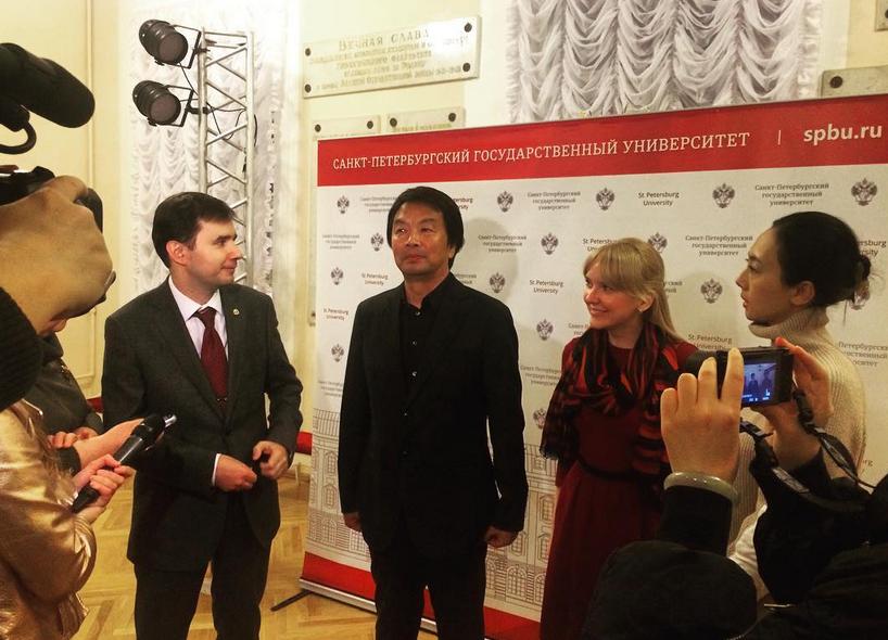 Лю Чжэньюнь на Восточном факультете СПбГУ. Фото Скриншот www.instagram.com/ci_spbu/
