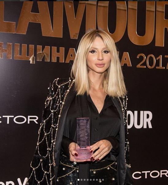 """Звезды на премии """"Женщина года"""" журнала Glamour. Светлана Лобода. Фото Instagram"""