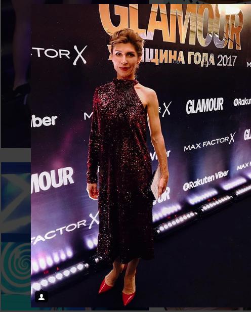 "Звезды на премии ""Женщина года"" журнала Glamour. Светлана Камынина. Фото Instagram"
