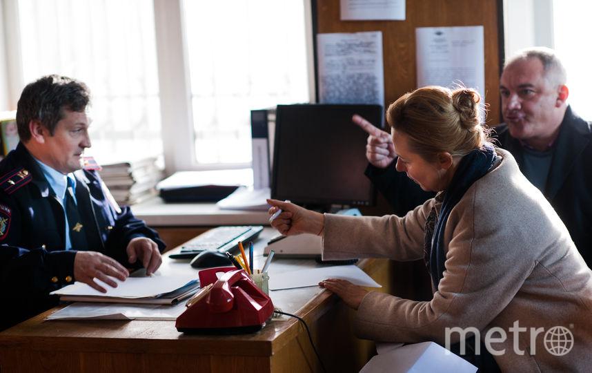 Актёры на съёмках фильма в отделении полиции. Фото предоставлено кинокомпанией «Русское»