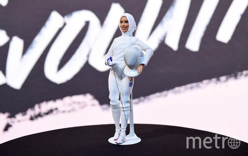 Ибтихадж Мухаммад на презентации куклы. Фото Getty