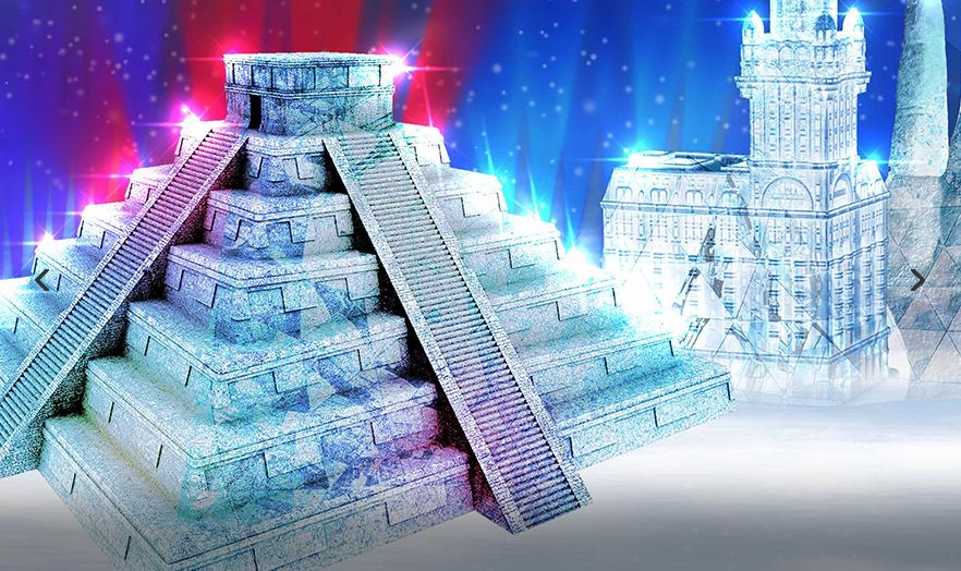 Ледяные скульптуры, которые появятся на Поклонной горе в конце декабря. Фото mos.ru