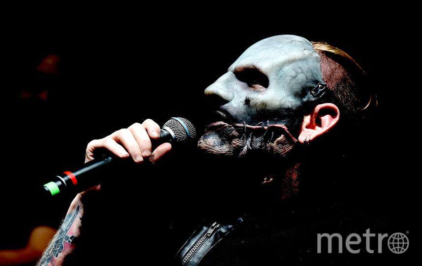 Кори Тейлор во время выступления группы Slipknot. Фото Getty