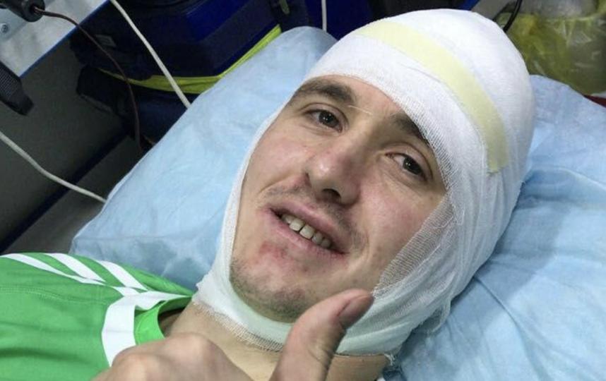 Лунёв в больнице сразу после матча с Испанией. Фото Instagram @teamrussia