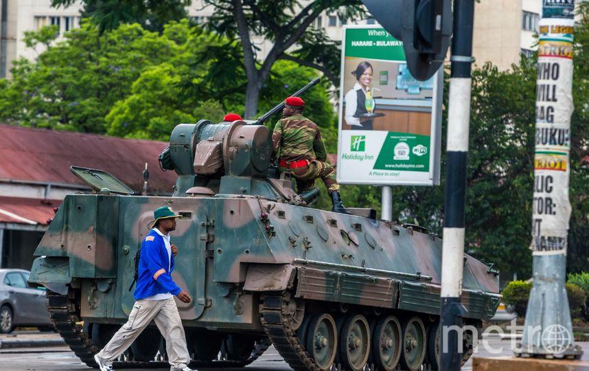 Ситуация в столице Зимбабве Хараре утром 15 ноября. Фото AFP