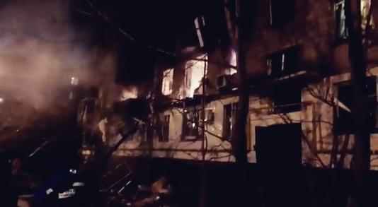 Размещено видео крупного пожара вХимках