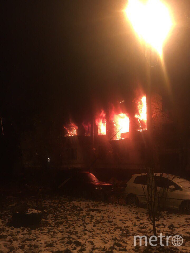 Пожар в Химках. Фото vk.com/tipkhimki