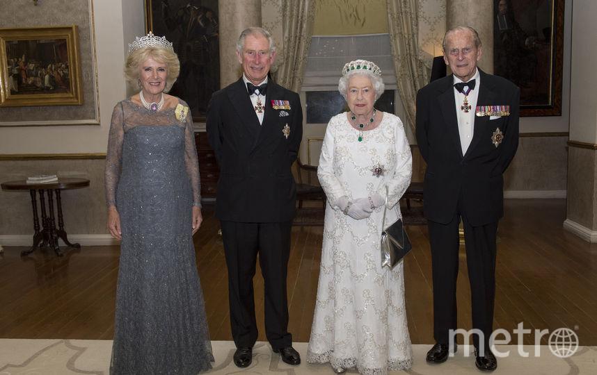 Камилла, принц Чарльз, Елизавета II и принц Филипп. Фото Getty