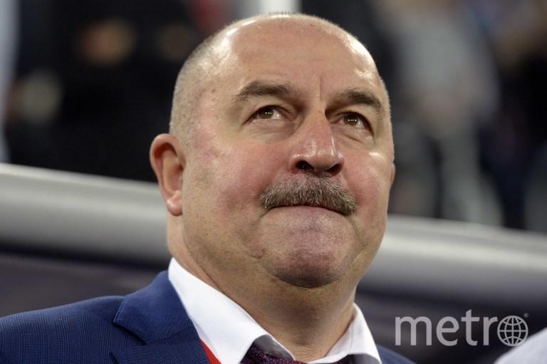 Станислав Черчесов, главный тренер сборной России по футболу. Фото AFP
