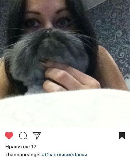 Семакова Жанна и кот по кличке Тема.