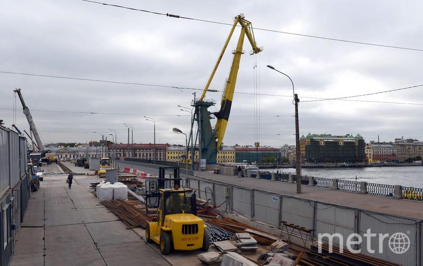Реконструкция Тучкова моста - ход работ на сентябрь 2017. Фото gov.spb.ru