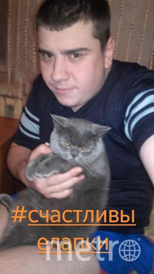 Александр Коваленко и котик Маус.