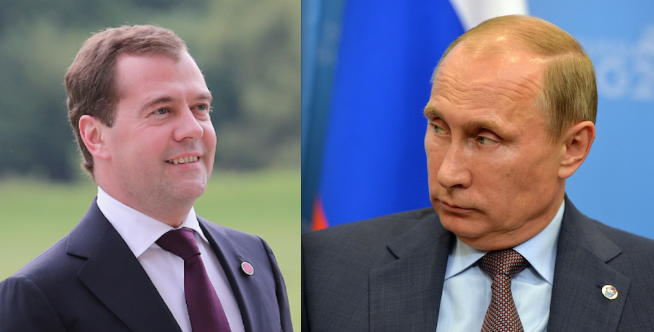 Дмитрий Медведев и Владимир Путин. Фото Getty