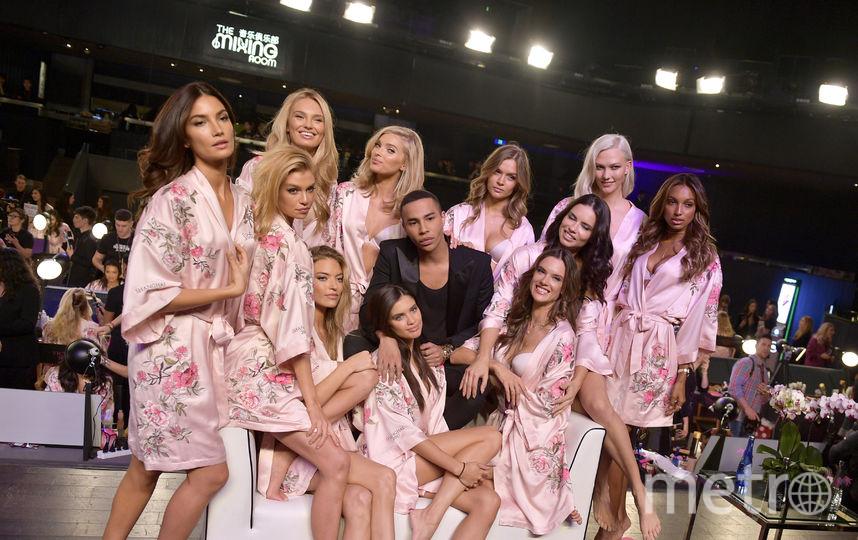 Накануне показа шоу Victoria's Secret - ангелы и Оливье Рустен. Фото Getty