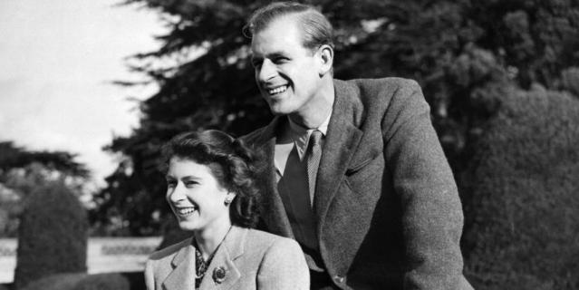 Елизавета II и принц Филипп.