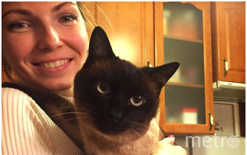 Шипицына Мария и котик Тихон.