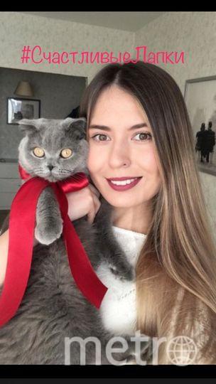 Евгения Мясоутова и  кошка Габриель.