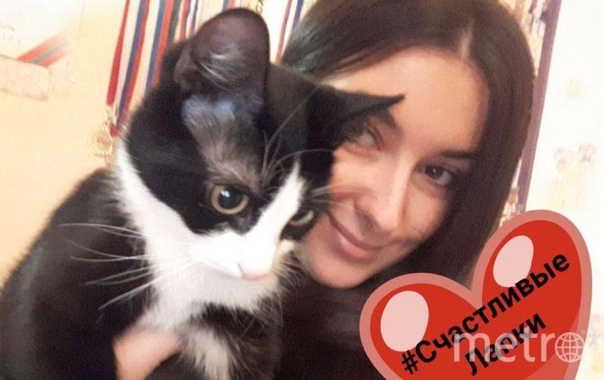 Полохова Таня и котик Сёма.