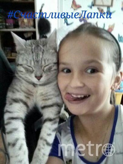 На фото мои дочь Варя Новосёлова и кот Тимофей. Фото Оксана Новосёлова.