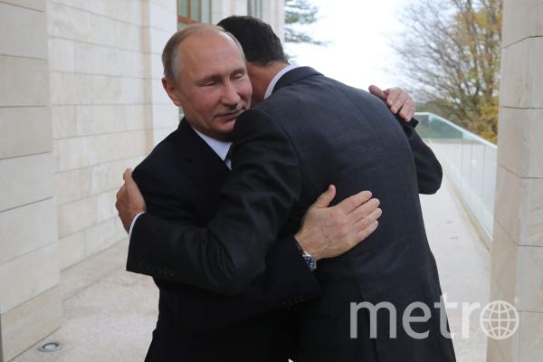 20 ноября 2017. Президент РФ Владимир Путин и президент Сирии Башар Асад (справа) во время встречи. Фото Михаил Климентьев, РИА Новости