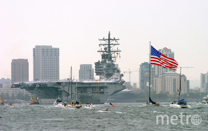"""Авианосец ВМС США """"Рональд Рейган"""". Фото Getty"""