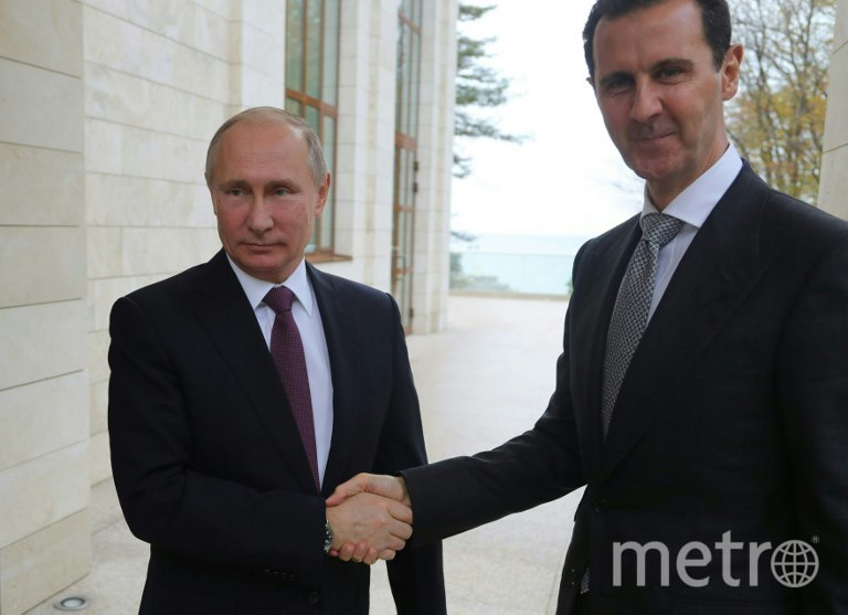 Владимир Путин и Башар Асад во время втсречи в Сочи. Фото AFP