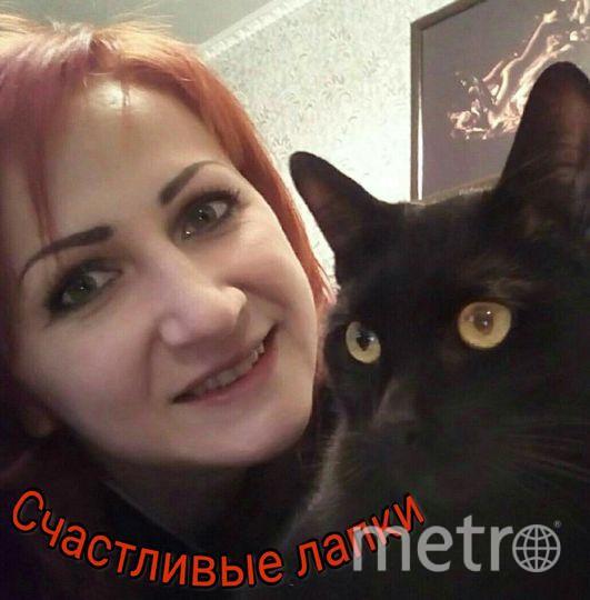 Лазарева Ольга Анатольевна.  Кота зовут - Снежок.