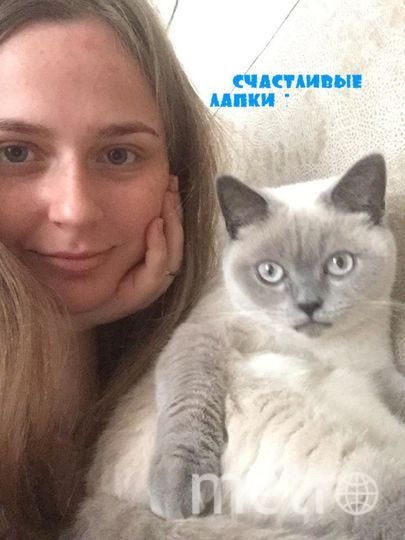 Новокрещенова Владислава. кличка кошки - Пуша.