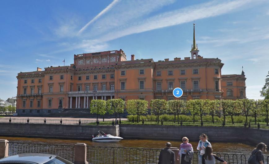 Михайловский замок. Фото Яндекс.Панорамы