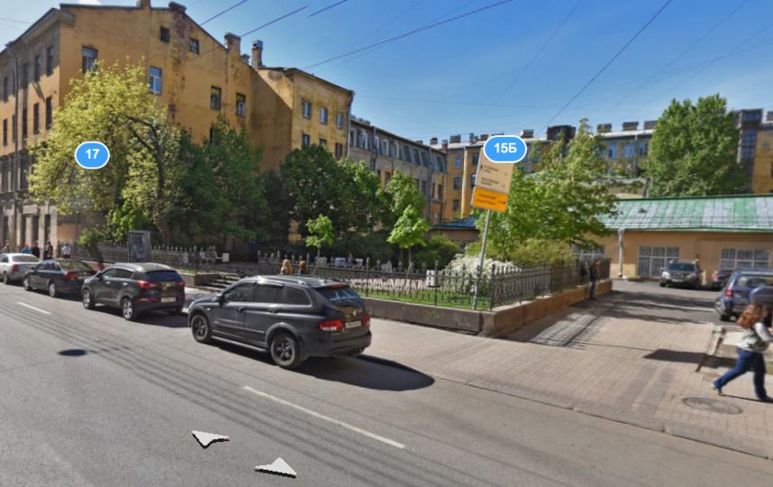 В Петербурге появился сквер Довлатова. Фото Яндекс.Карты