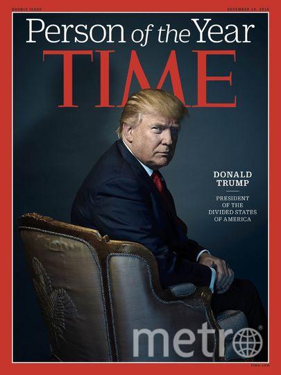 В декабре прошлого года, после окончания президентской кампании в США человеком года Трампа назвали сразу два журнала – американский Time и британский Financial Times. Фото Time