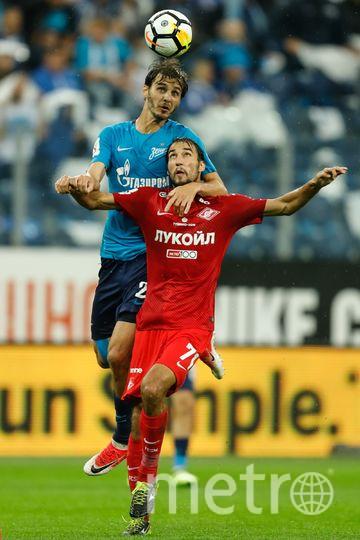 Матч «Зенита» и «Спартака» в первом круге завершился победой сине-бело-голубых со счётом 5:1. Фото Getty
