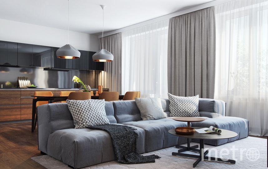 Совмещение гостиной и кухни – популярный в Европе вариант планировки. Это удобный формат и под сдачу недвижимости. Фото Setl City