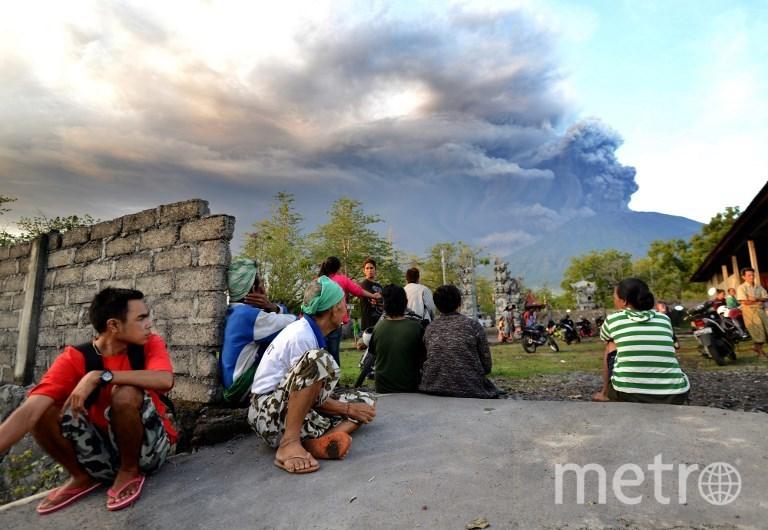 Извержение вулкана Агунг на Бали. Фото AFP