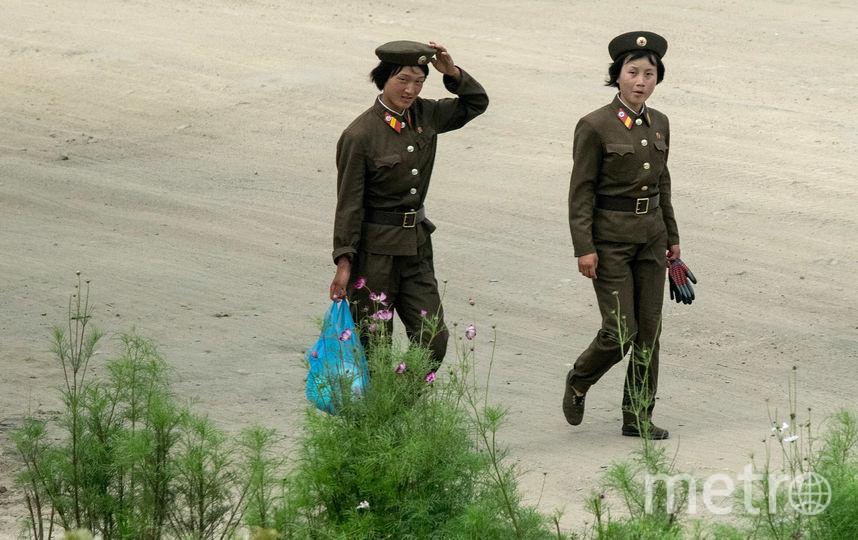 Женщины-военнослужащие армии КНДР. Фото Getty
