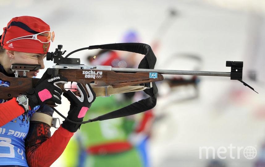 Российские биатлонистки Ольга Вилухина. Фото Getty
