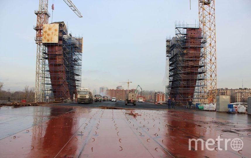 Фото со стройки Серного моста в Петербурге. Фото https://t.me/StroykaSPb