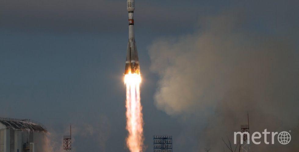 Старт ракета-носителя'Союз-2.1б с космодрома Восточный