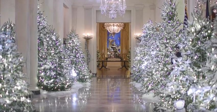 Мелания Трамп показала, как Белый дом готовится к Рождеству. Фото Скриншот Youtube