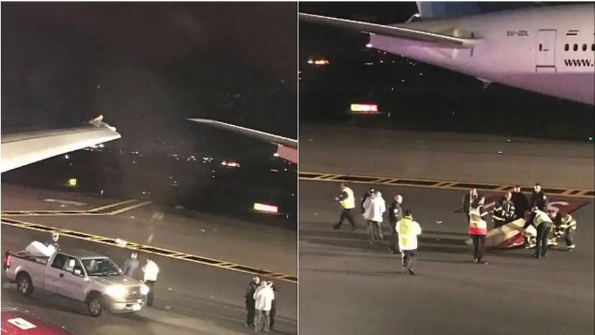 В Сети появились фото инцидента. Фото Скриншот Youtube
