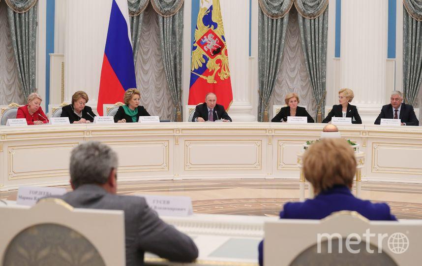 Владимир Путин на заседании Координационного совета национальной стратегии действий в интересах детей. Фото AFP