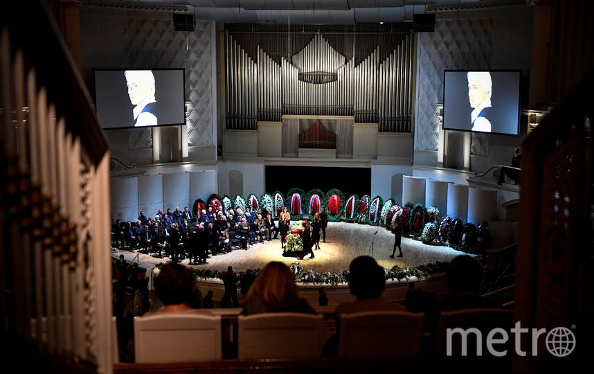 Церемония прощания с Дмитрием Хворостовским в Москве. Фото AFP