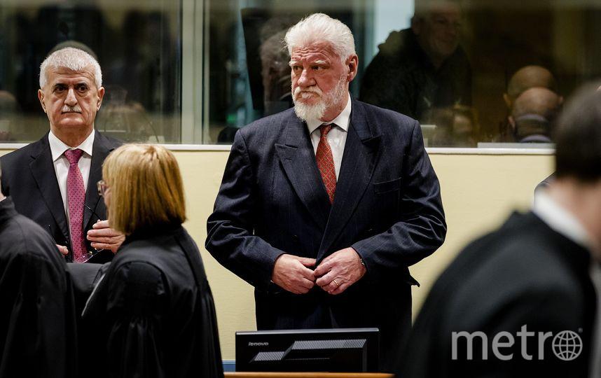 Генерал Праляк на заседании суда. Фото AFP