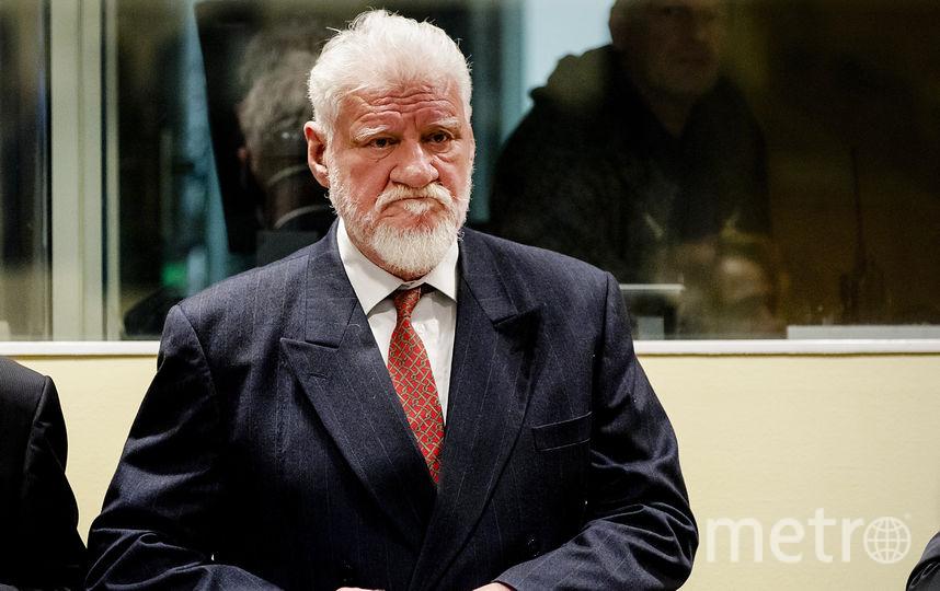 Генерал Праляк в Гааге на заседании суда. Фото AFP